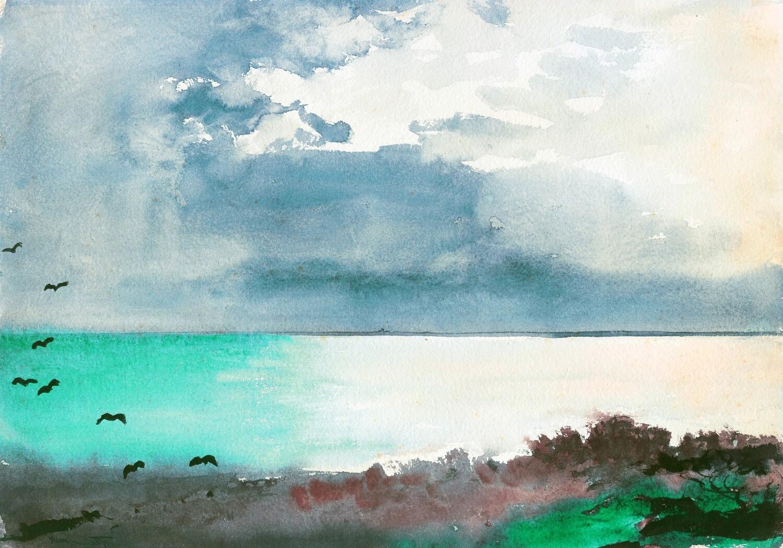 Winslow Homer | Breaking Storm, Coast of Maine 1894