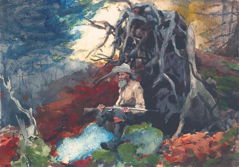 Winslow Homer | Campfire, Adirondacks 1890