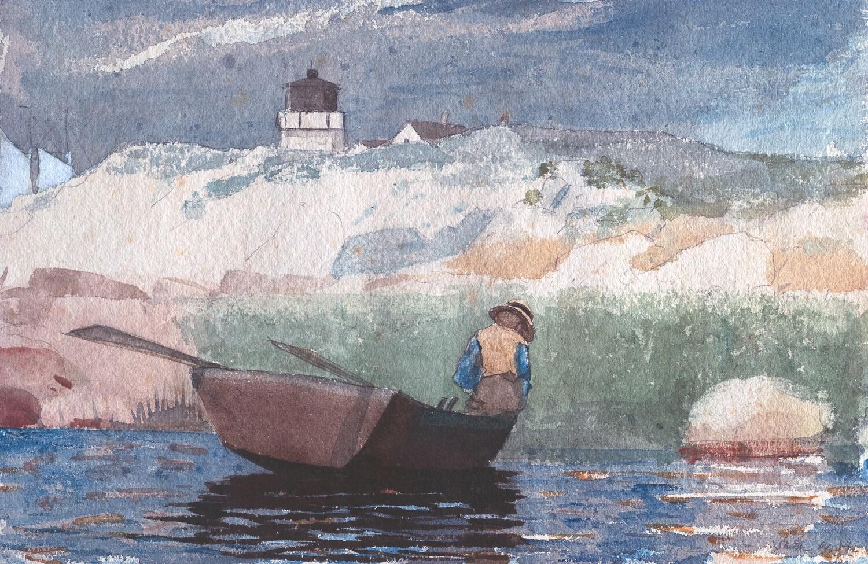 Winslow Homer | Boy in Boat, Gloucester1880
