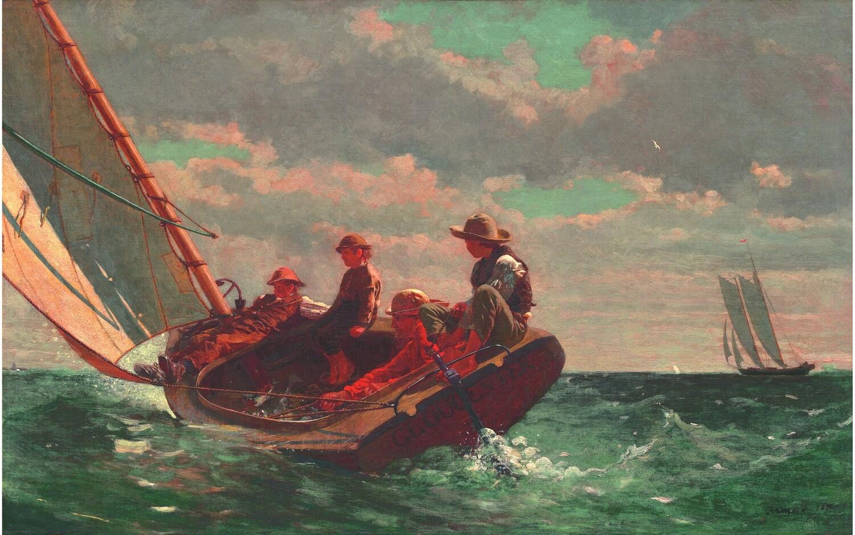 Winslow Homer | Breezing Up  1873