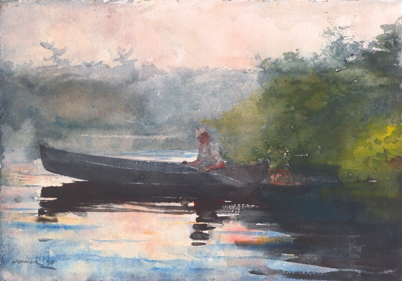 Winslow Homer | The End of the day, Adirondacks 1890