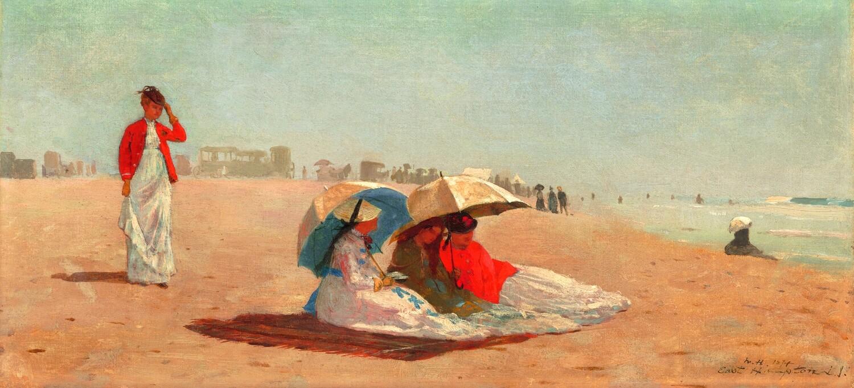 Winslow Homer   East Hampton Beach  LI 1874