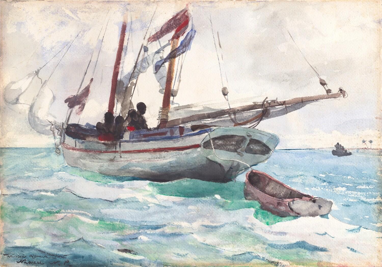Winslow Homer | Schooner -Nassau 1898
