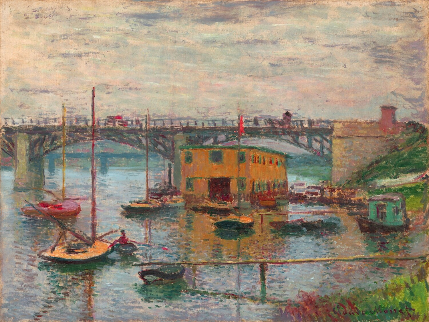 Claude Monet   Bridge at Argenteuil on a gray day 1876