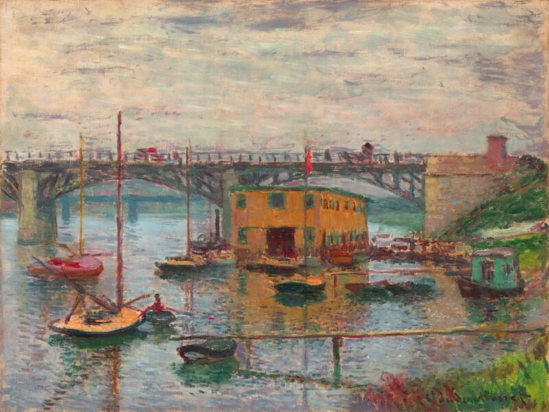 Claude Monet | Bridge at Argenteuil on a gray day 1876