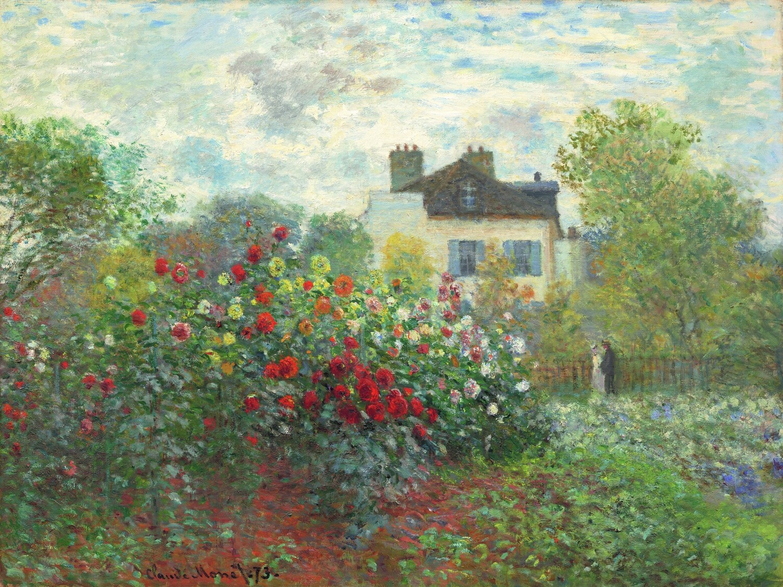 Claude Monet   The Artist's Garden in Argenteuil (a corner of the garden with dahlias) 1873