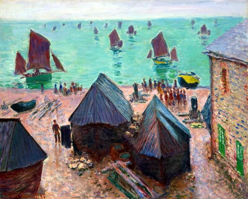 Claude Monet | The Departure of the Boats, Étretat 1885