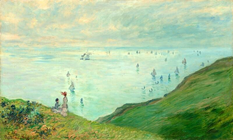 Claude Monet | Cliffs at Pourville 1882