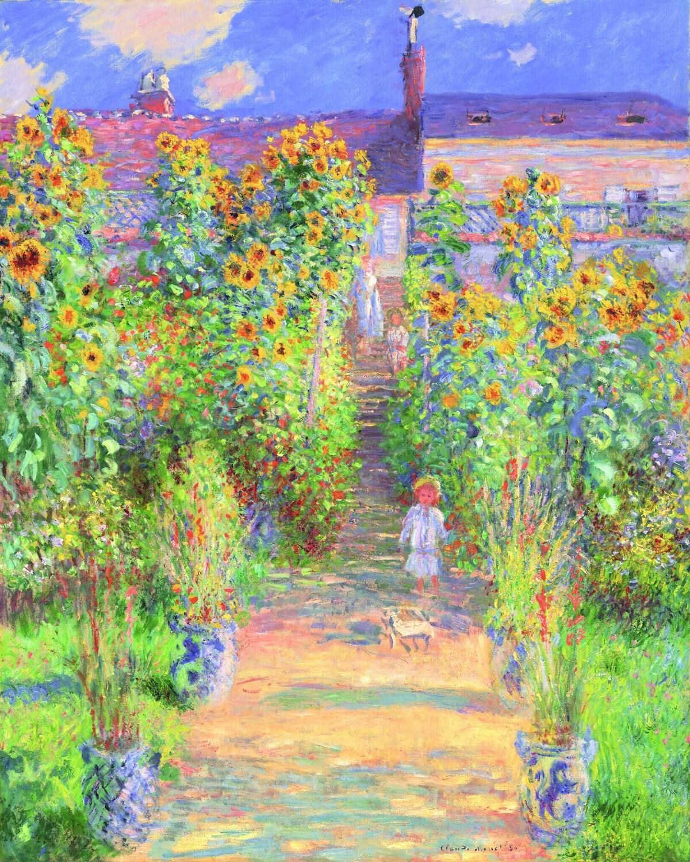 Claude Monet   The Artist's Garden at Vetheuil 1881