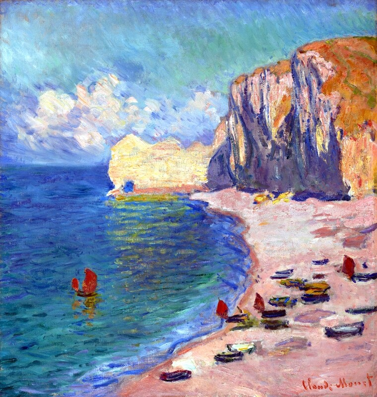 Claude Monet | Étretat  The Beach and the Falaise d'AmontDate 1885