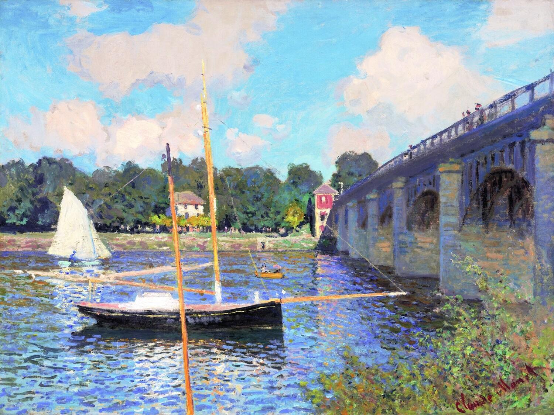 Claude Monet   The Bridge at Argenteuil 1874