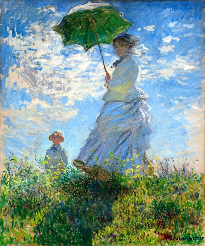 Claude Monet | Woman with a Parasol - Madame Monet and Her Son, 1875