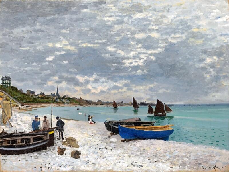 Claude Monet | The Beach at Sainte- Adresse 1867