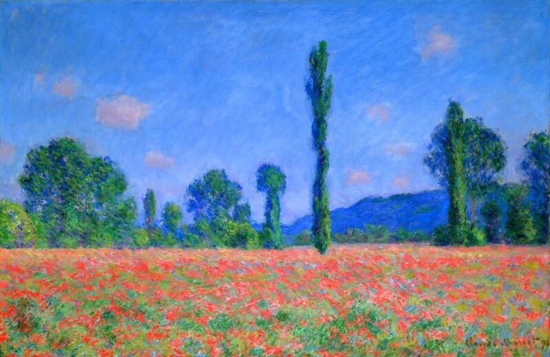 Claude Monet | Poppy Field Giverny 1891