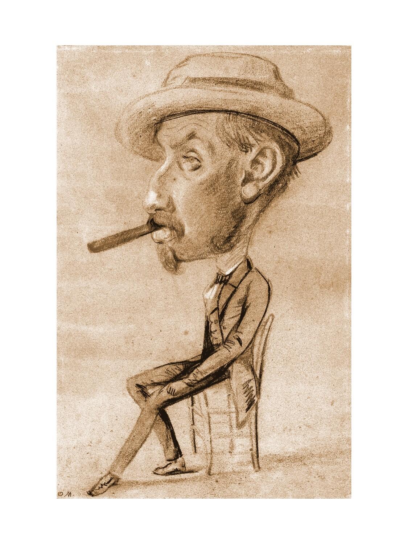 Claude Monet | Man with a Big Cigar 1855