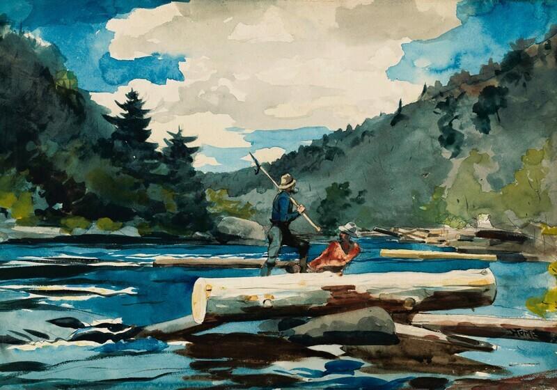 Winslow Homer | Hudson River Logging 1891