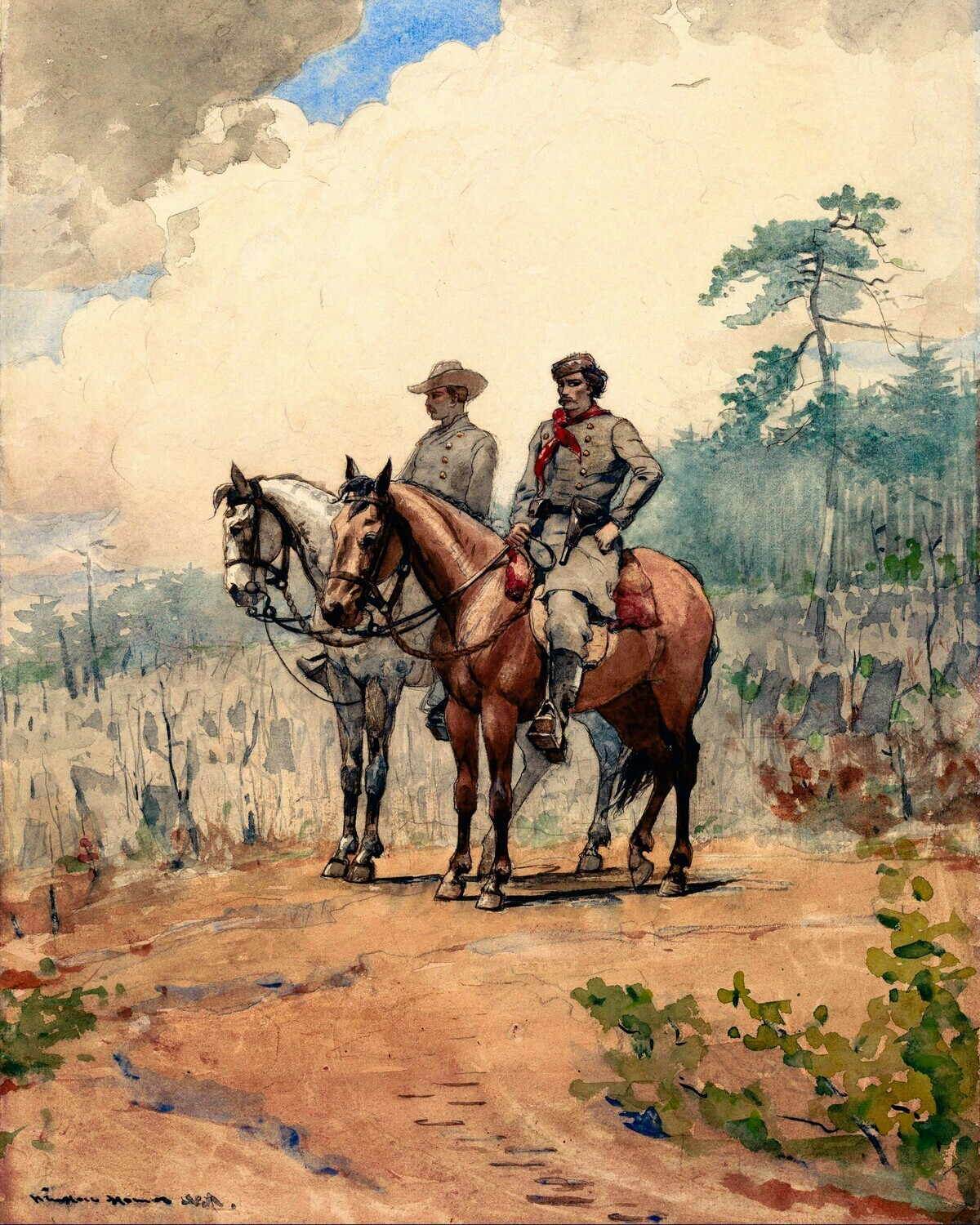 Winslow Homer   Two Scouts 1887