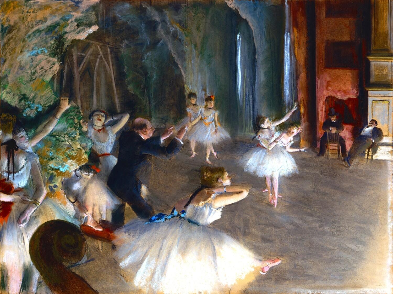 Edgar Degas | The Rehearsal Onstage