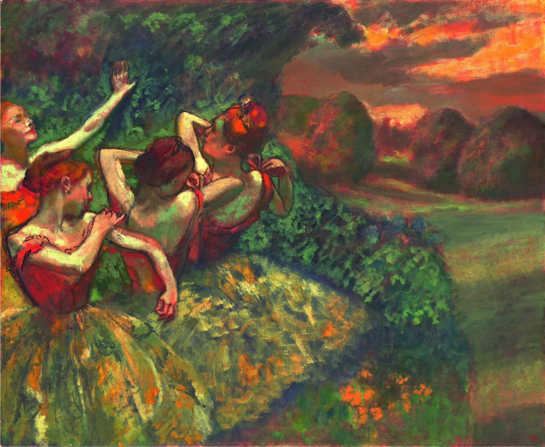 Edgar Degas | Four Dancers 1899