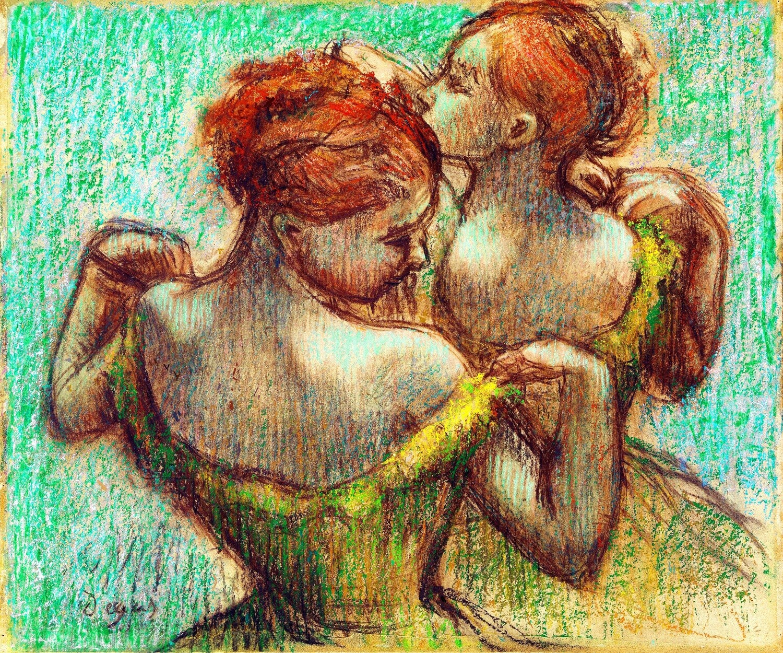 Edgar Degas | Two Dancers, Half-length