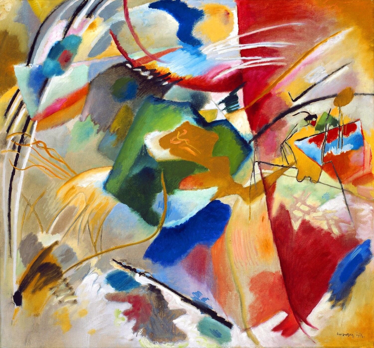 Wassily Kandinsky | Painting with Green Center 1917