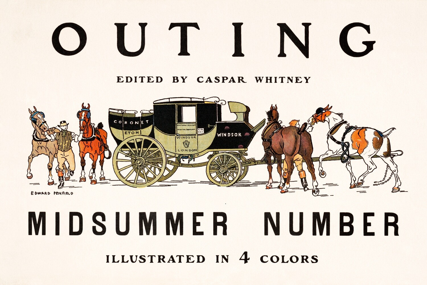 Edward Penfield | Outing edited by Caspar Whitney 1890-1900
