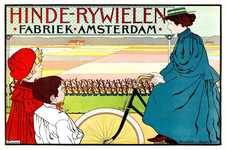 Johann Georg van Caspel | Hinde-Rijwielen Fabriek Amsterdam (1896–1898)