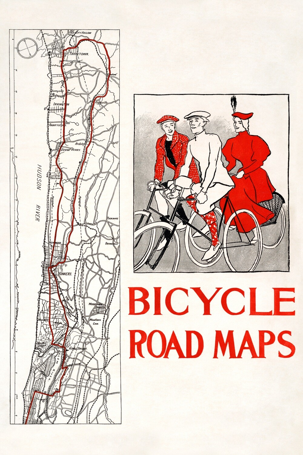 Edward Penfield | Bicycle road maps 1895