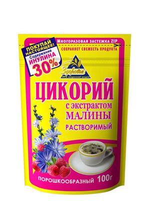 Цикорий Здоровье Малина 100г/12 м/у zip ХХХХ