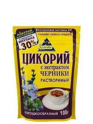 Цикорий Здоровье Черника 100г/12 м/у zip