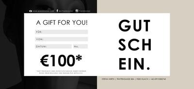 GUTSCHEIN €100 | AKTION -10%