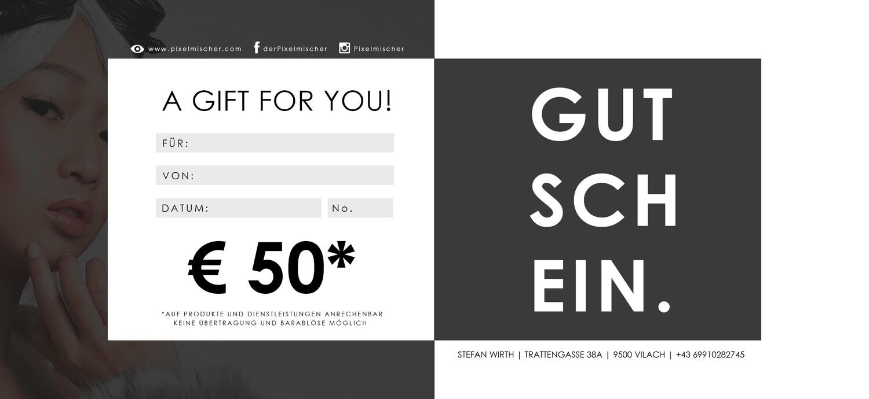 GUTSCHEIN €50 | AKTION -10%