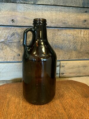 32 oz Recyclable No-Logo Glass Growler and Fill