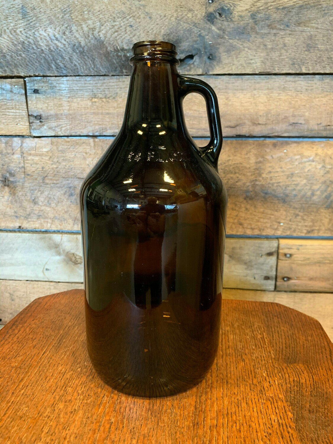 64 oz Recyclable No-Logo Glass Growler and Fill