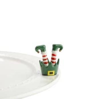 Nora Fleming Jingle Toes Elf Feet Mini