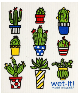Wet-It Cactus Pots Swedish Dishcloth