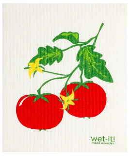 Wet-It Tomatoes Swedish Dishcloth