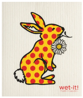 Wet-It Bunny Dot Swedish Dishcloth