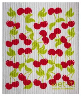 Wet-It Cherries Swedish Dishcloth