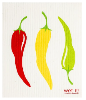 Wet-It Peppers Swedish Dishcloth D