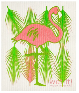 Wet-It Flamingo Swedish Dishcloth