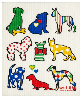 Wet-It Multi Dogs Swedish Dishcloth