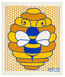 Wet-It Honey Bee Swedish Dishcloth