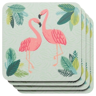 Now Designs Coaster Set - Flamingos