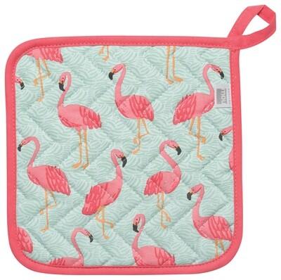Now Designs Pot Holder - Flamingos