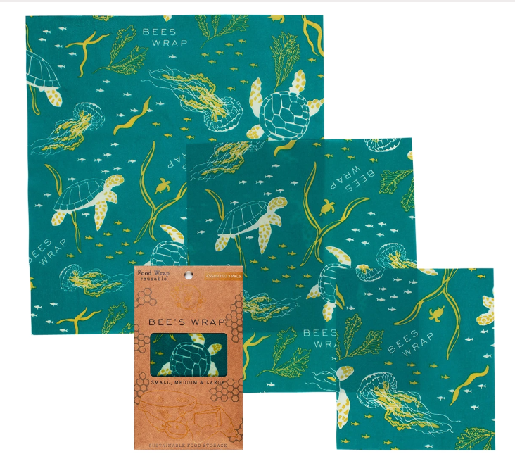 Bee's Wrap 3-Piece Assortment - Oceans