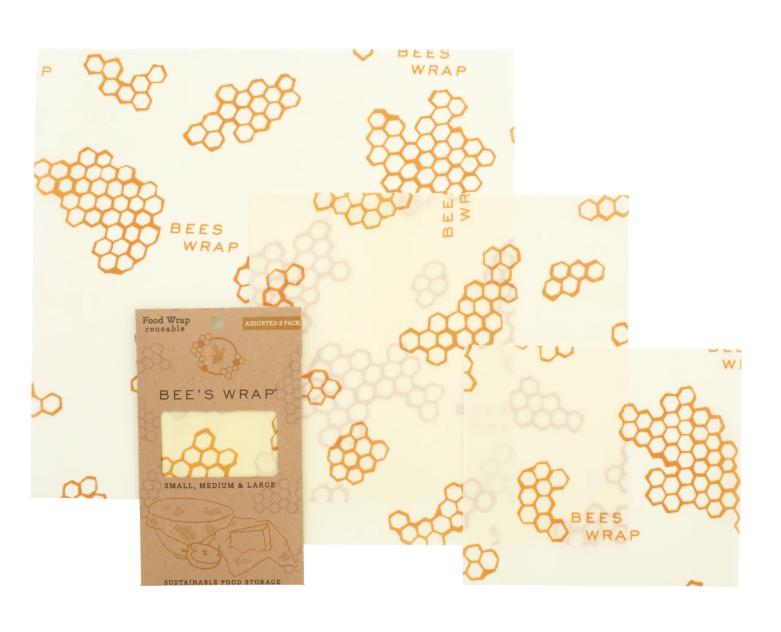 Bee's Wrap 3-Piece Assortment - Honeycomb