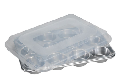 Nordic Ware Naturals Muffin Pan with Lid