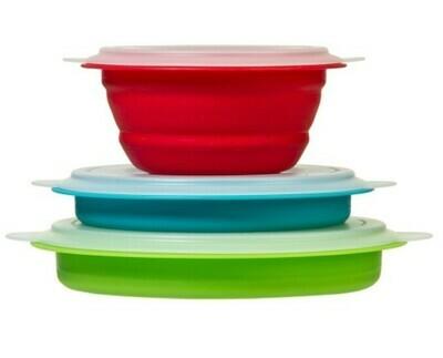 Progressive Collapsible Storage Bowls
