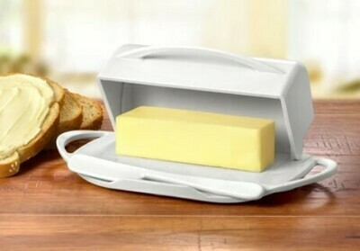 Butterie Butter Dish - White